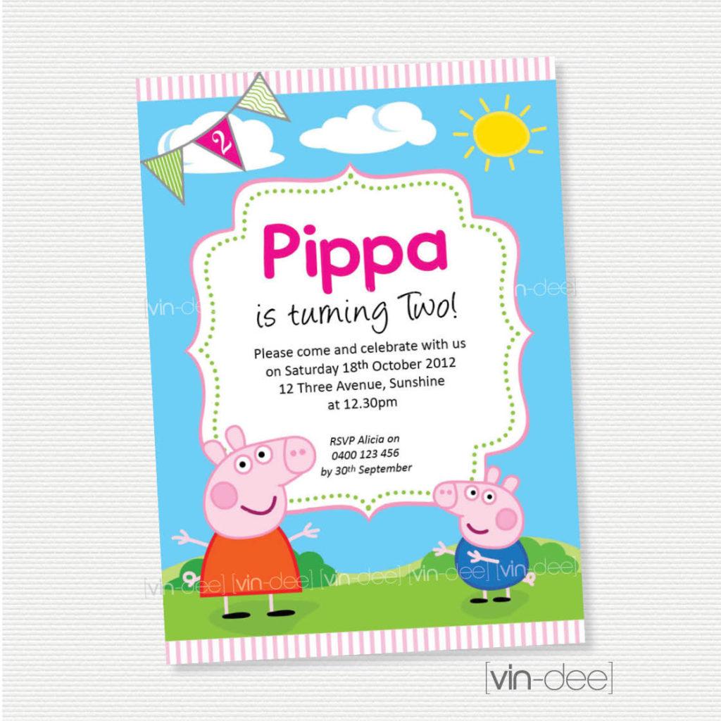 Peppa Pig Birthday Invitation DIY Printable By Vindee On Etsy