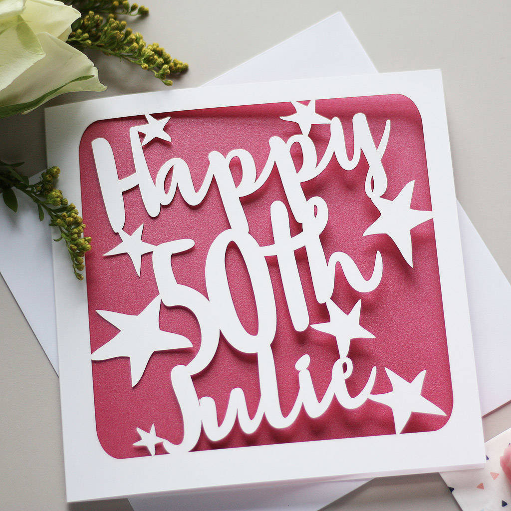 Personalised 50th Birthday Card By Whole In The Middle