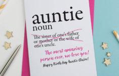 Printable Birthday Cards Aunt