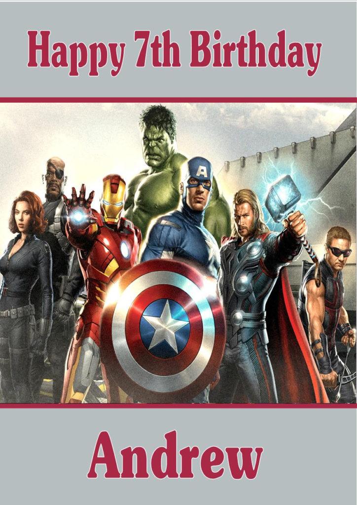 Personalised Avengers Birthday Card Design 2