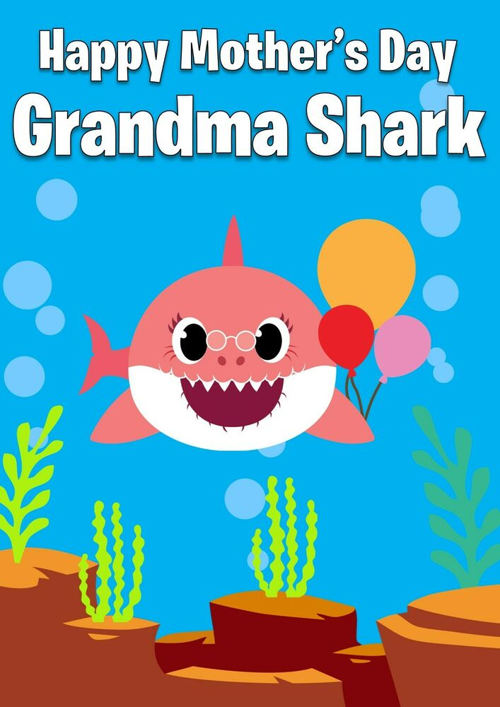 PERSONALISED BABY SHARK Birthday Card And Name DOO DOO DOO