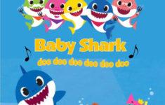 Baby Shark Birthday Card Printable