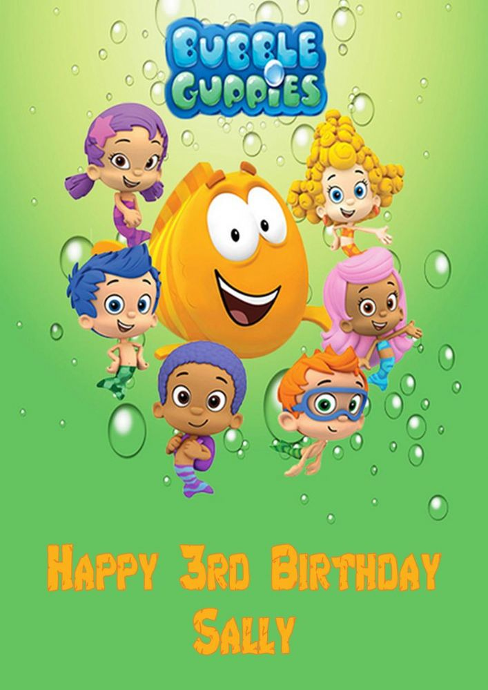 Personalised Bubble Guppies Birthday Card