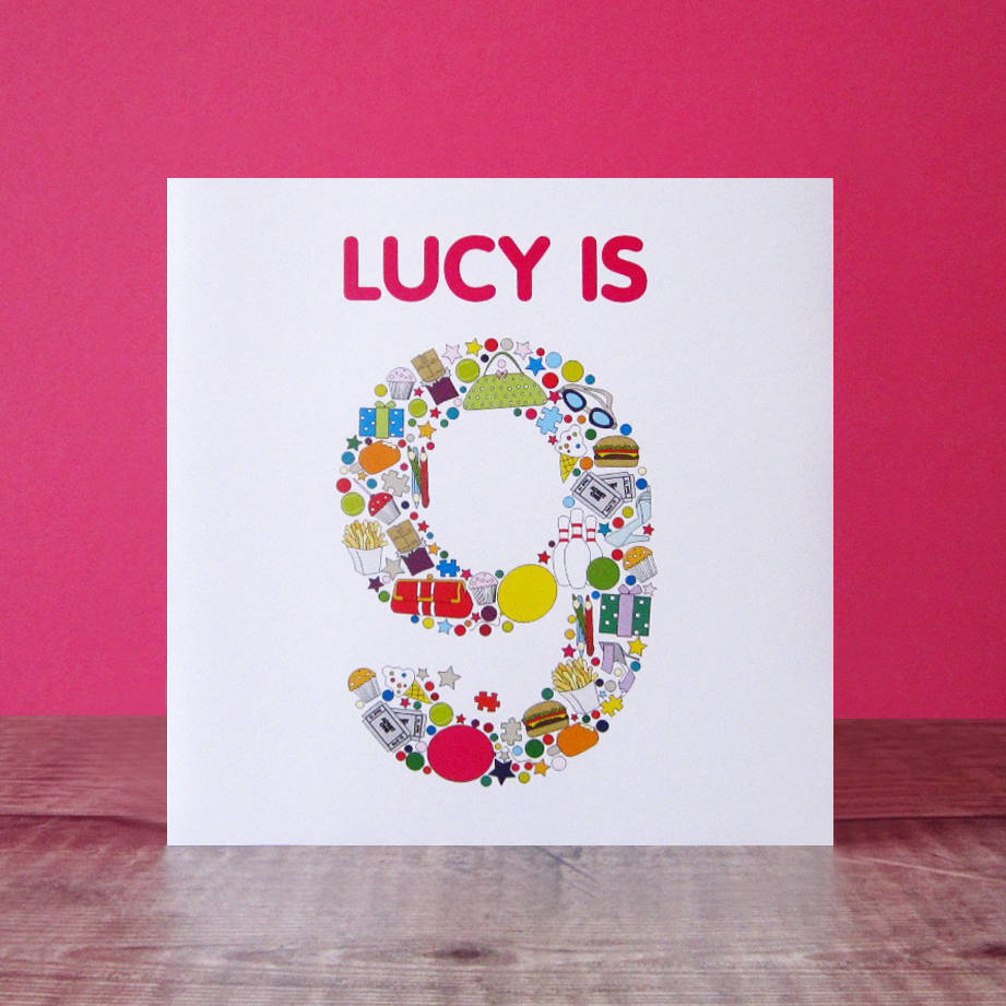 Personalised Child s Birthday Card print By Mrs L Cards