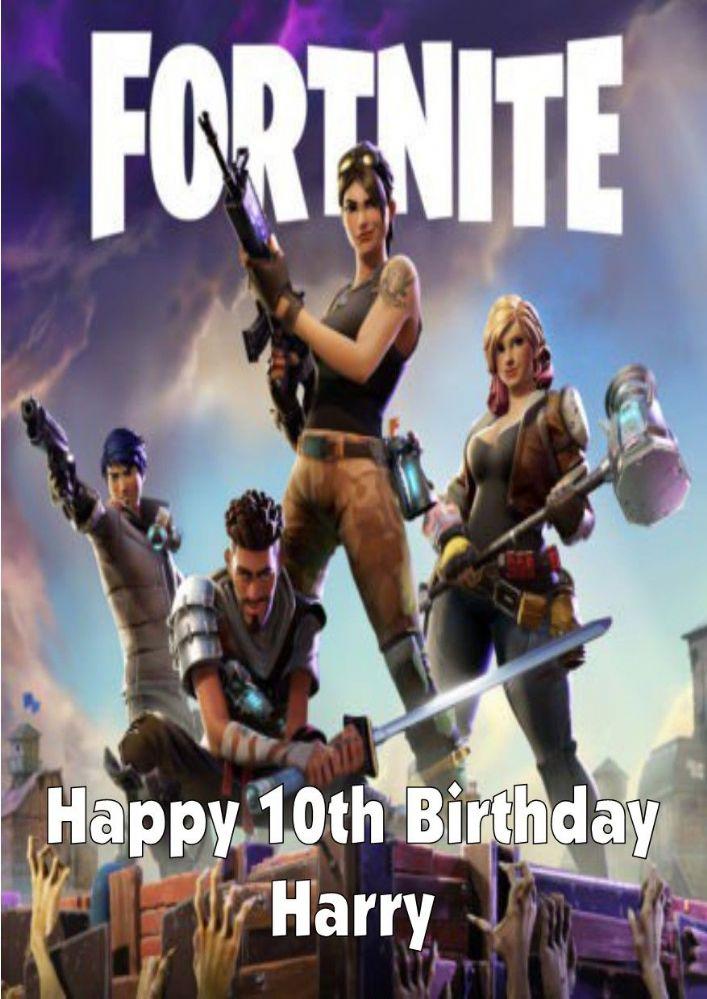 Personalised Fortnite Birthday Card