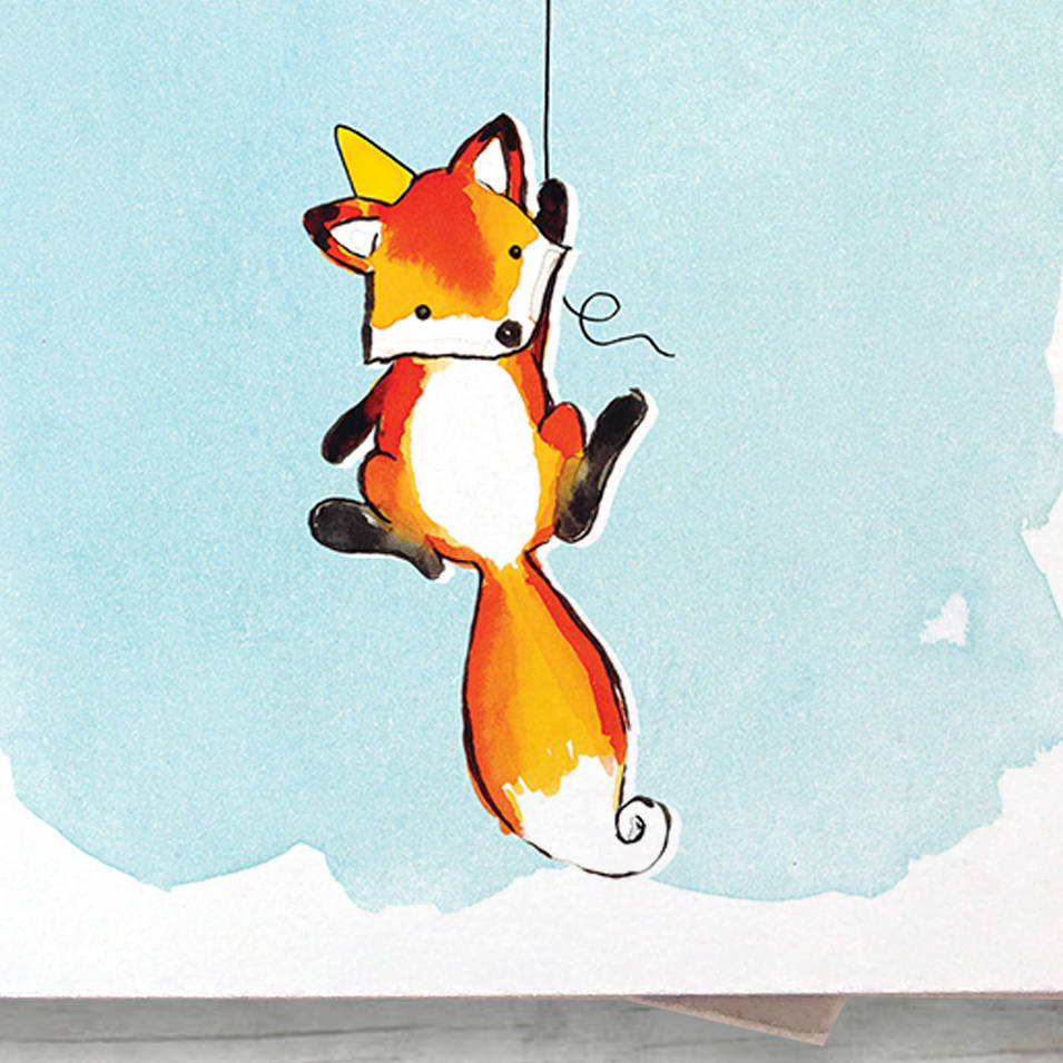 Personalised Fox Children s Birthday Card By Alexia Claire