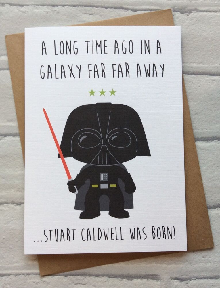 Personalised Handmade Star Wars Birthday Card Darth Vader