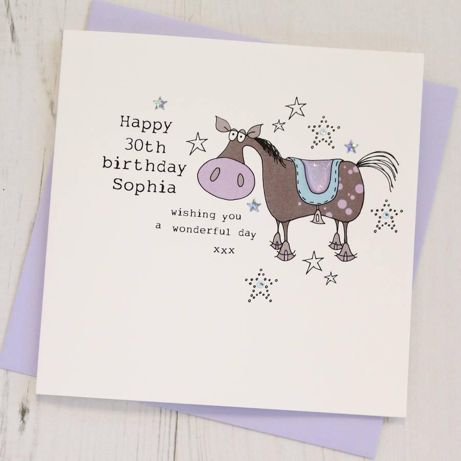 Personalised Horse Birthday Card By Eggbert Daisy