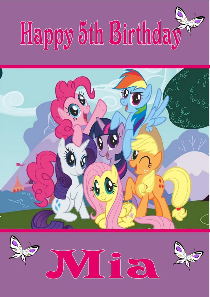 Personalised My Little Pony Birthday Card