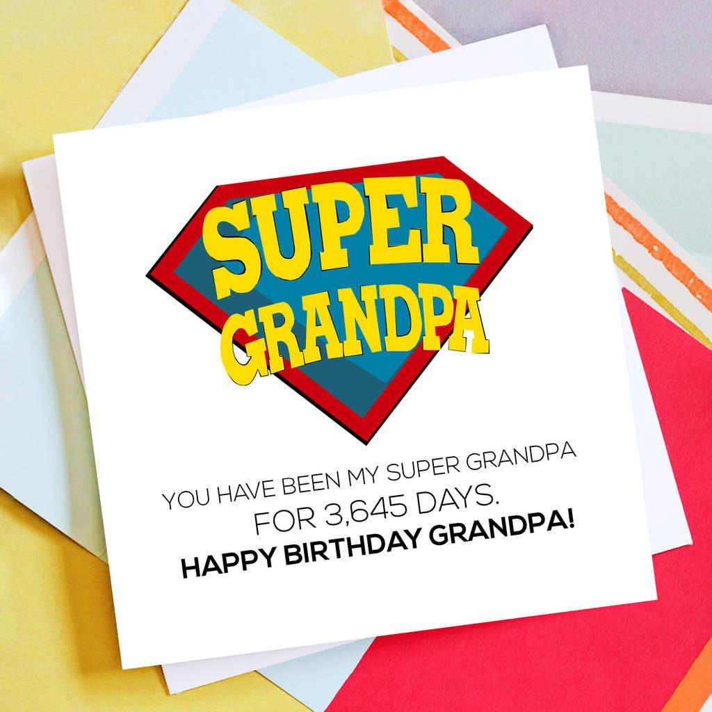 Personalised Super Grandpa Birthday Card By Rabal