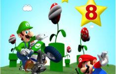 Printable Mario Birthday Card