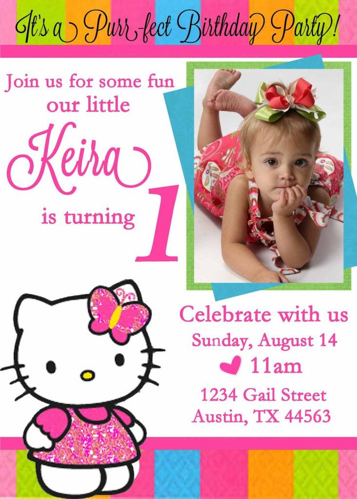 Personalized Hello Kitty Birthday Invitations Hello