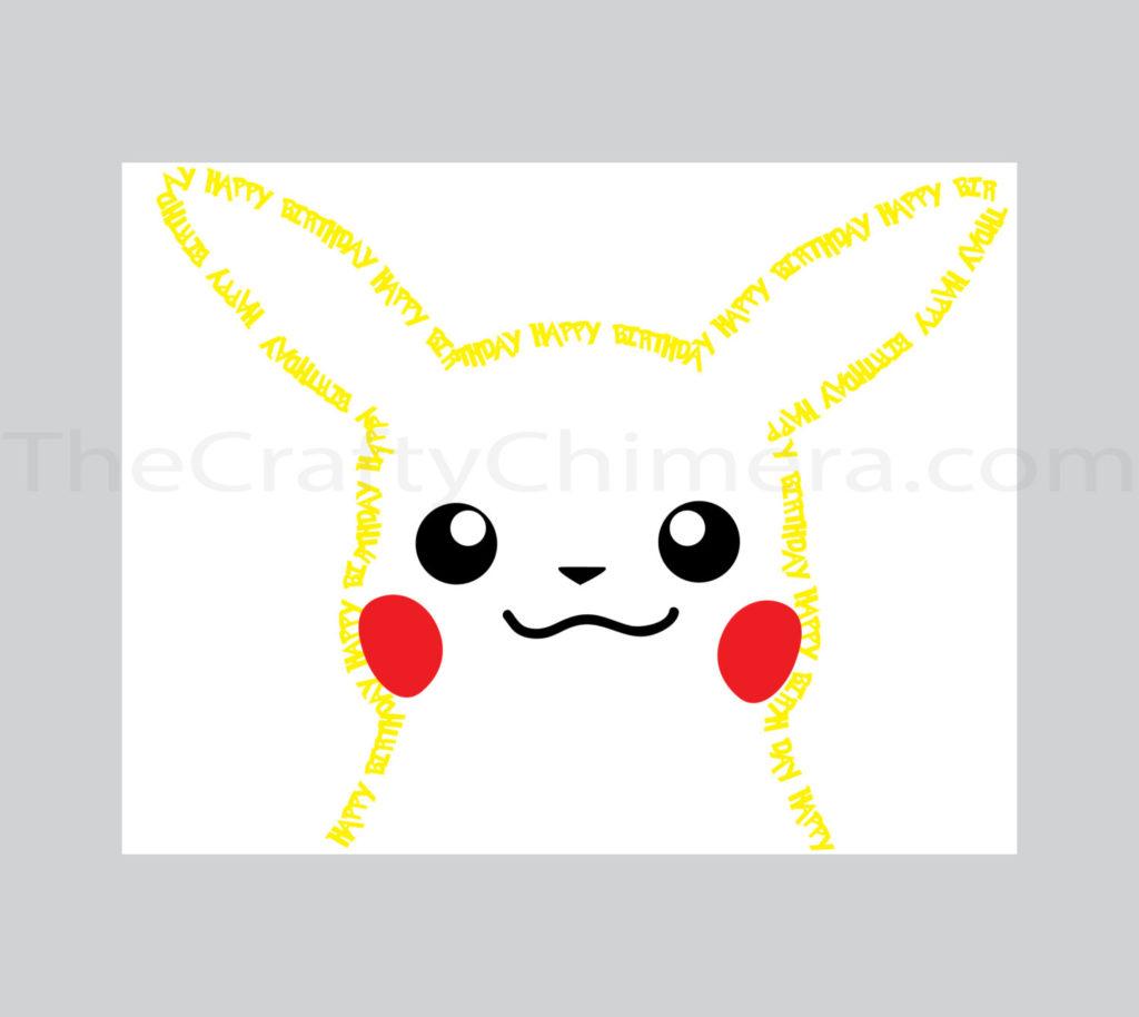 Pikachu Printable Birthday Card Pokemon