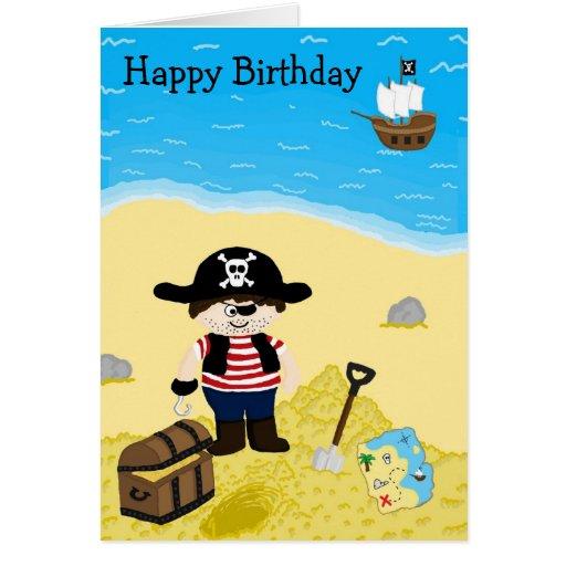 Pirate Birthday Card Zazzle