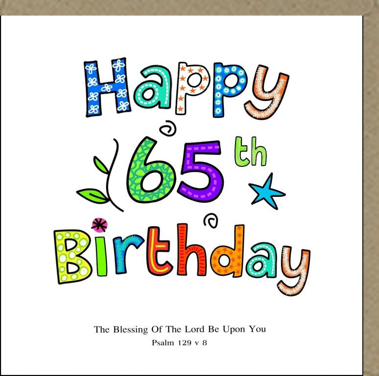 PMC Greeting Card Happy 65th Birthday