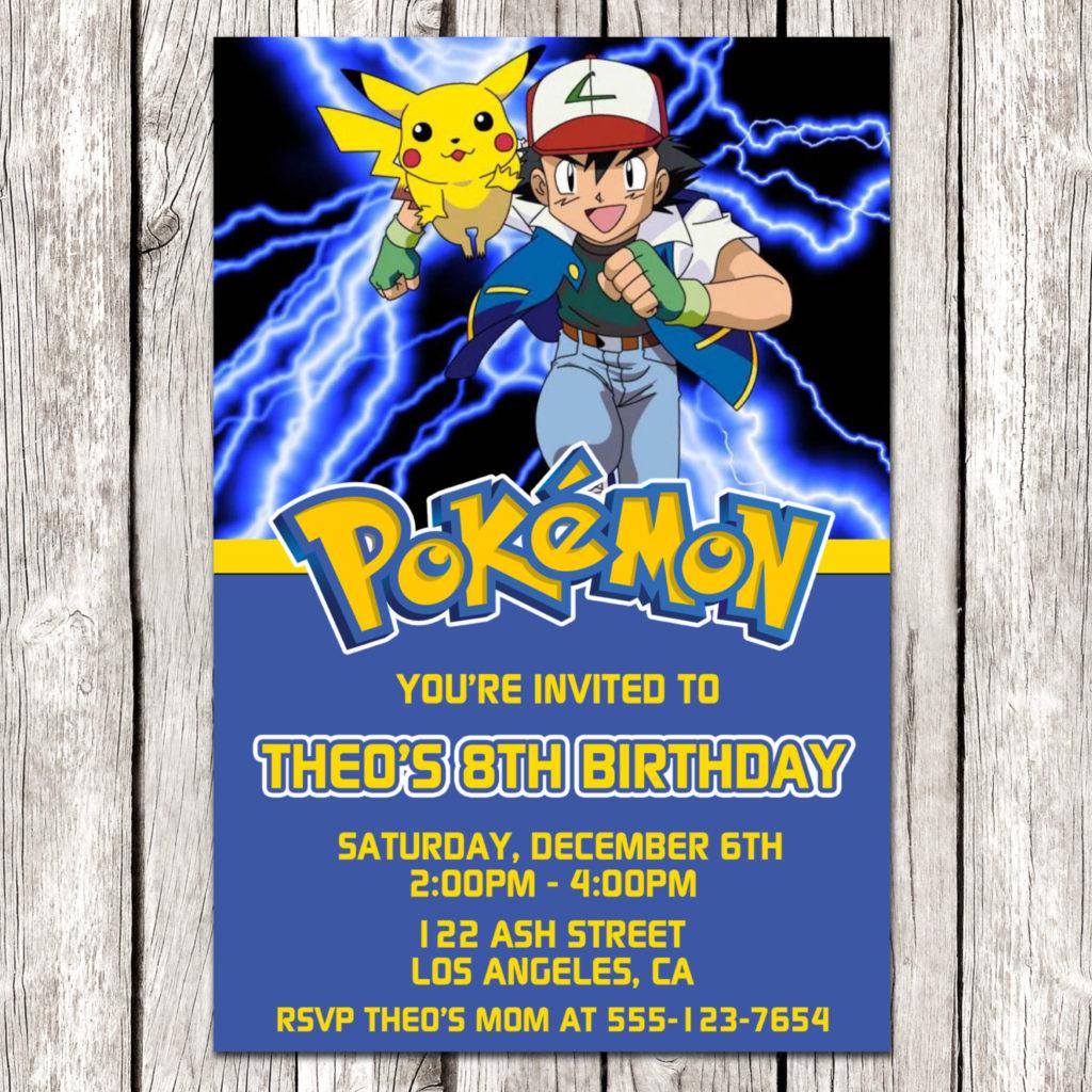 Pokemon Invitation Pokemon Birthday Party DIY Printable