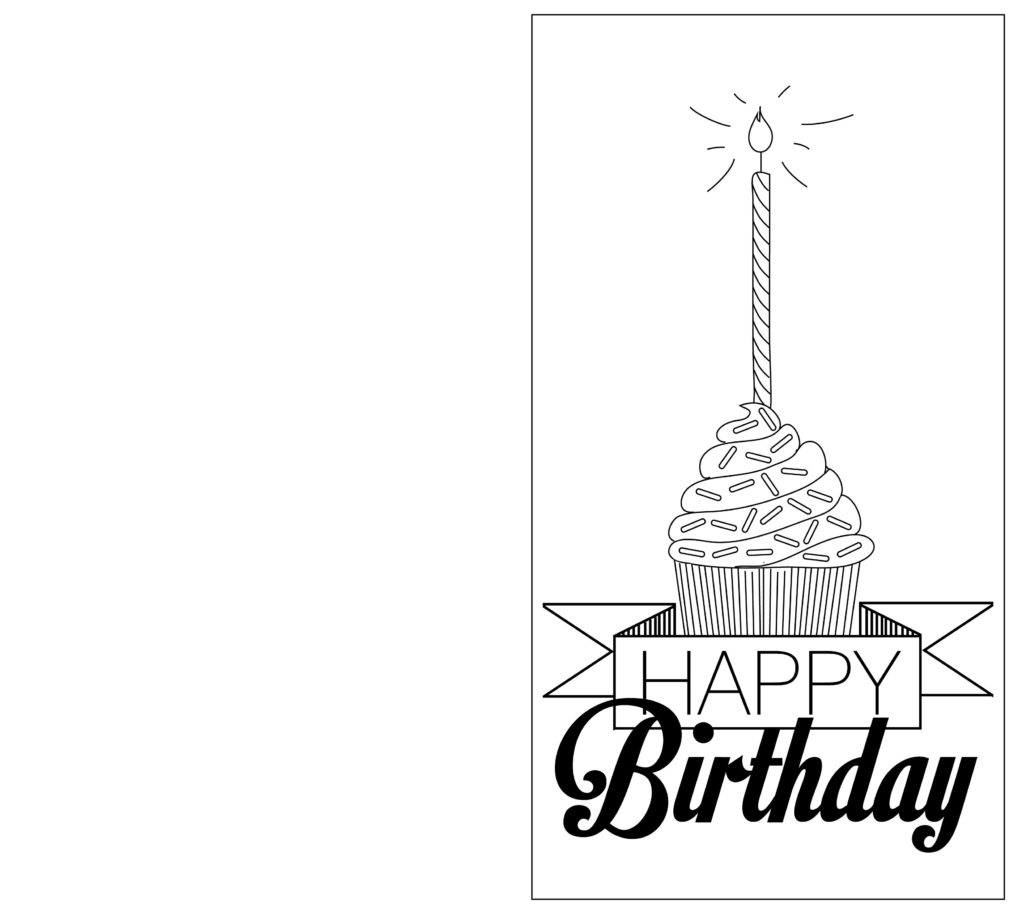 Print Out Black And White Birthday Cards Birthday Card