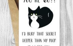 Printable 60th Birthday Cards Funny Tuxedo Cat 60 Birthday