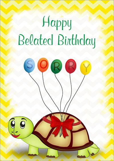 Printable Belated Birthday Cards
