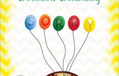 Free Printable Belated Birthday Cards