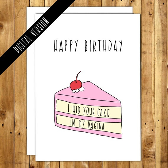 Printable Birthday Card Boyfriend Naughty Birthday