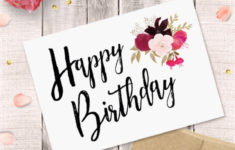 Printable Birthday Cards For Her