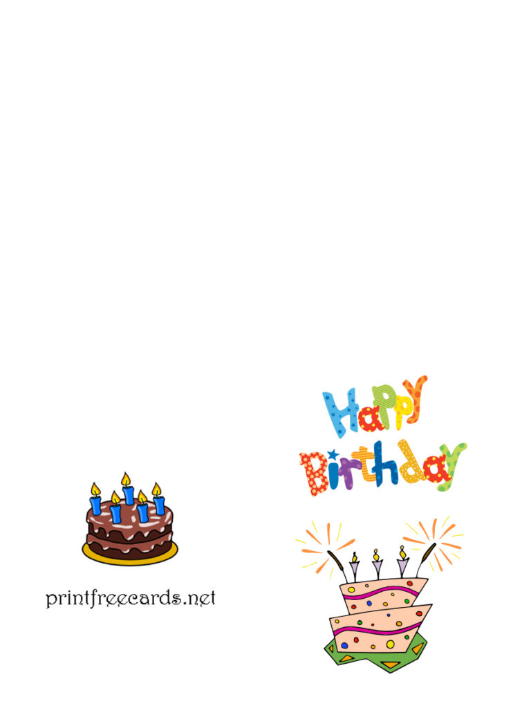 Printable Birthday Card Free Birthday Cards Free