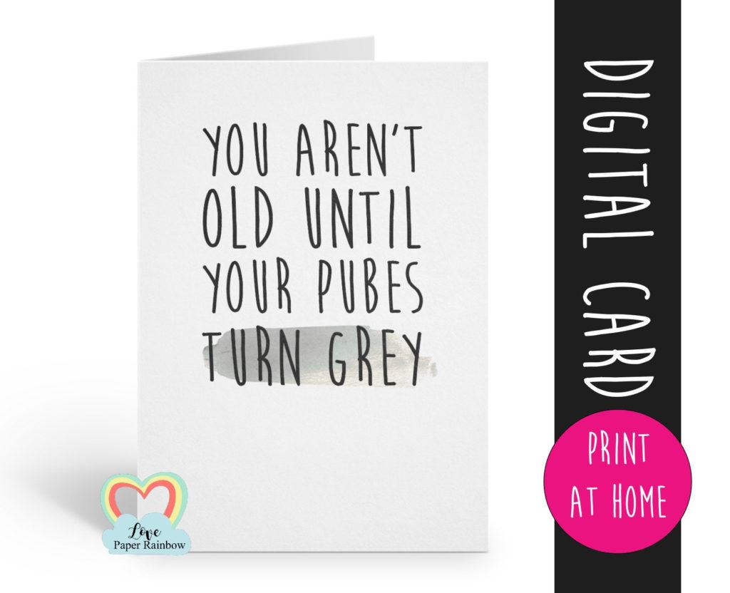 Printable Birthday Card Funny Birthday Card Printable