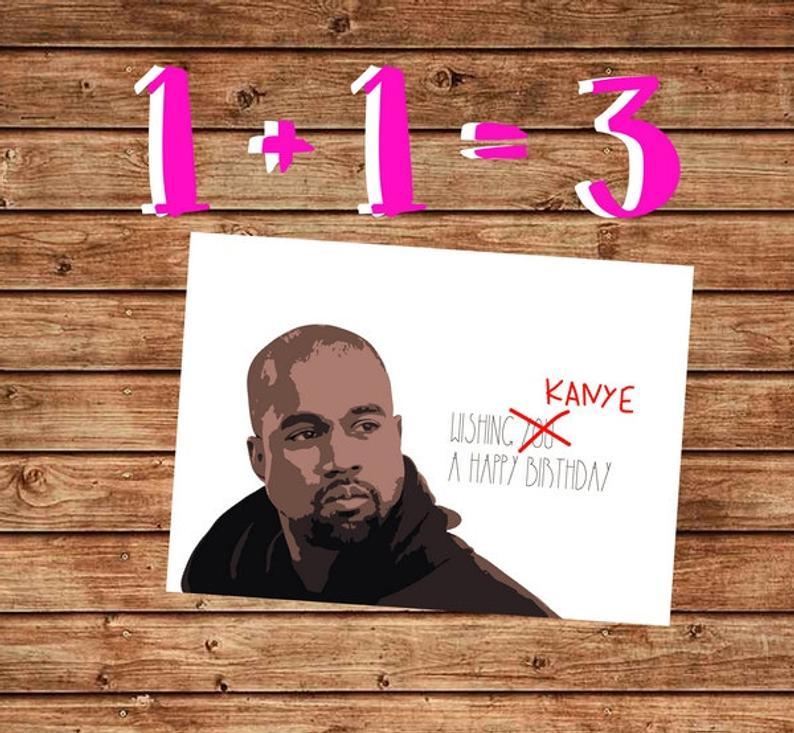 Printable Birthday Card Kanye West Birthday Card Happy Etsy