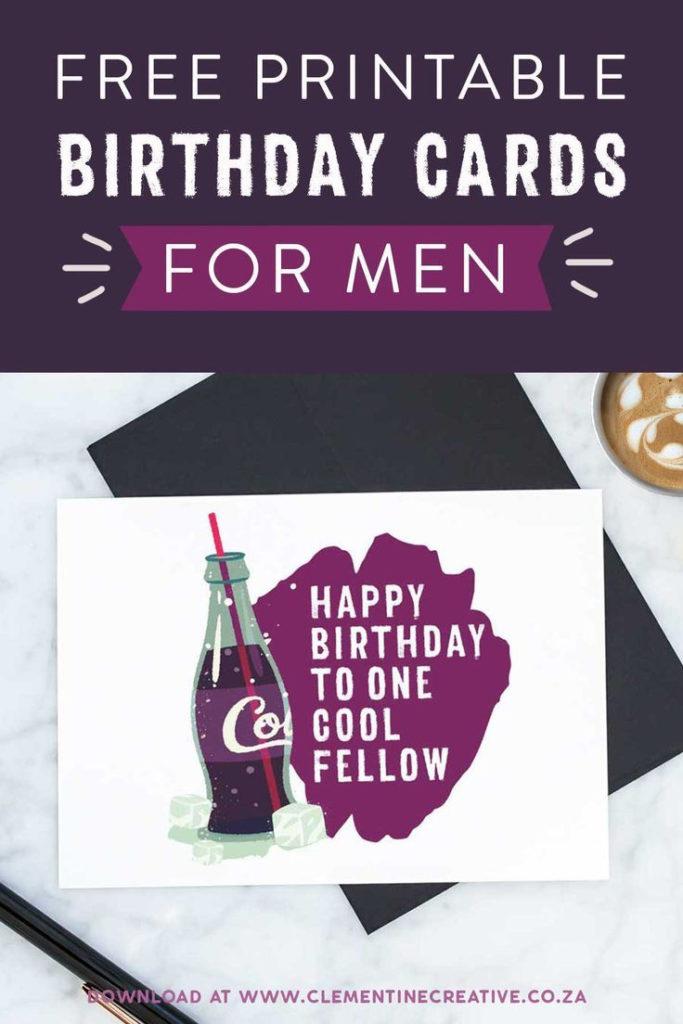 Printable Birthday Cards For Him Premium Free