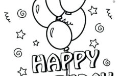 Printable Birthday Cards Coloring