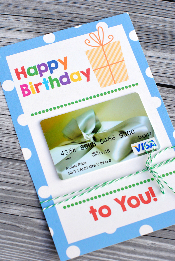 Printable Birthday Gift Card Holders Crazy Little Projects
