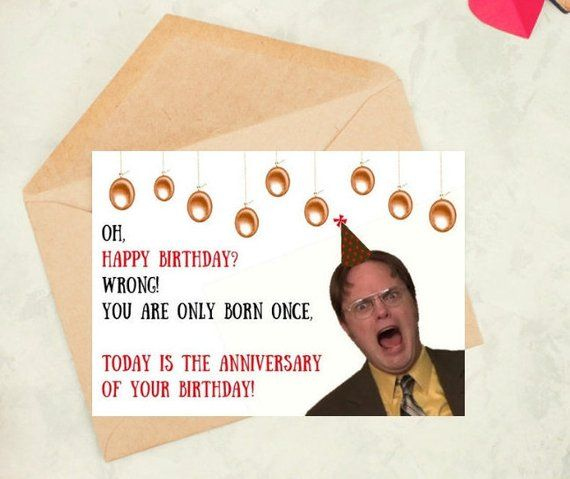 printable birthdaycards DwightSchrute TheOfficeTvshow