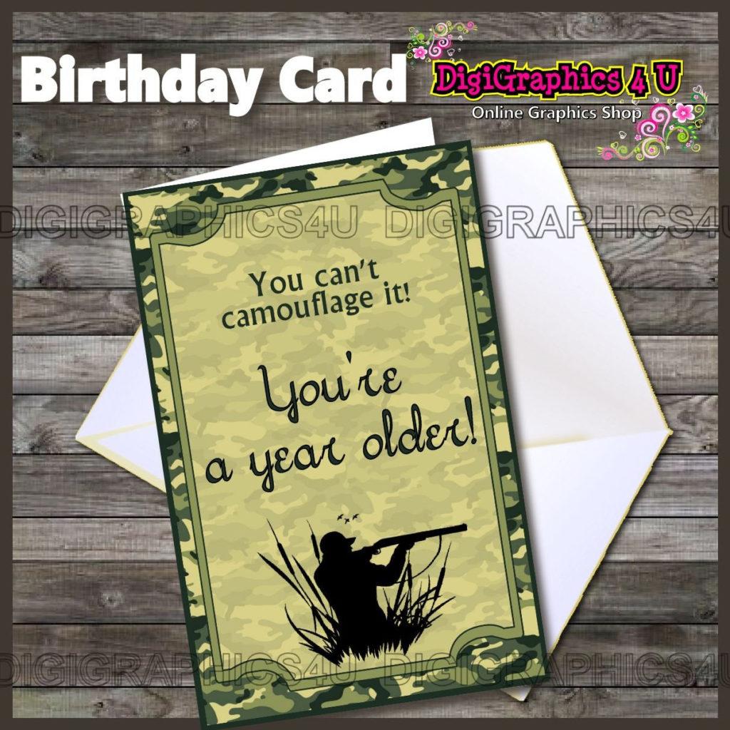 Printable Camo Hunting Inspired Birthday By DigiGraphics4u