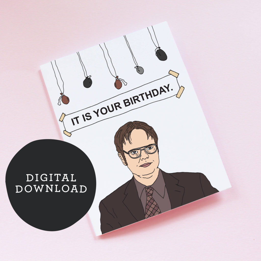 Printable Dwight Schrute Birthday Card The Office It