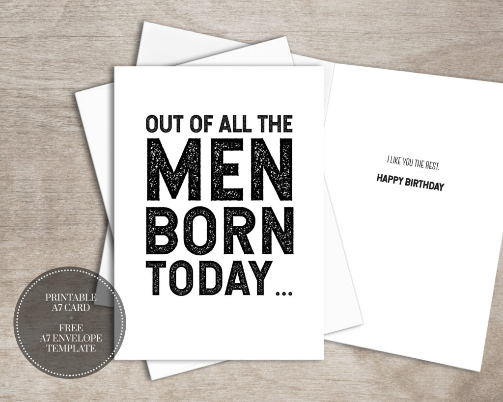 PRINTABLE Funny Birthday Card INSTANT DOWNLOAD Birthday