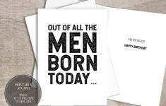 Free Printable Funny Birthday Cards For Him