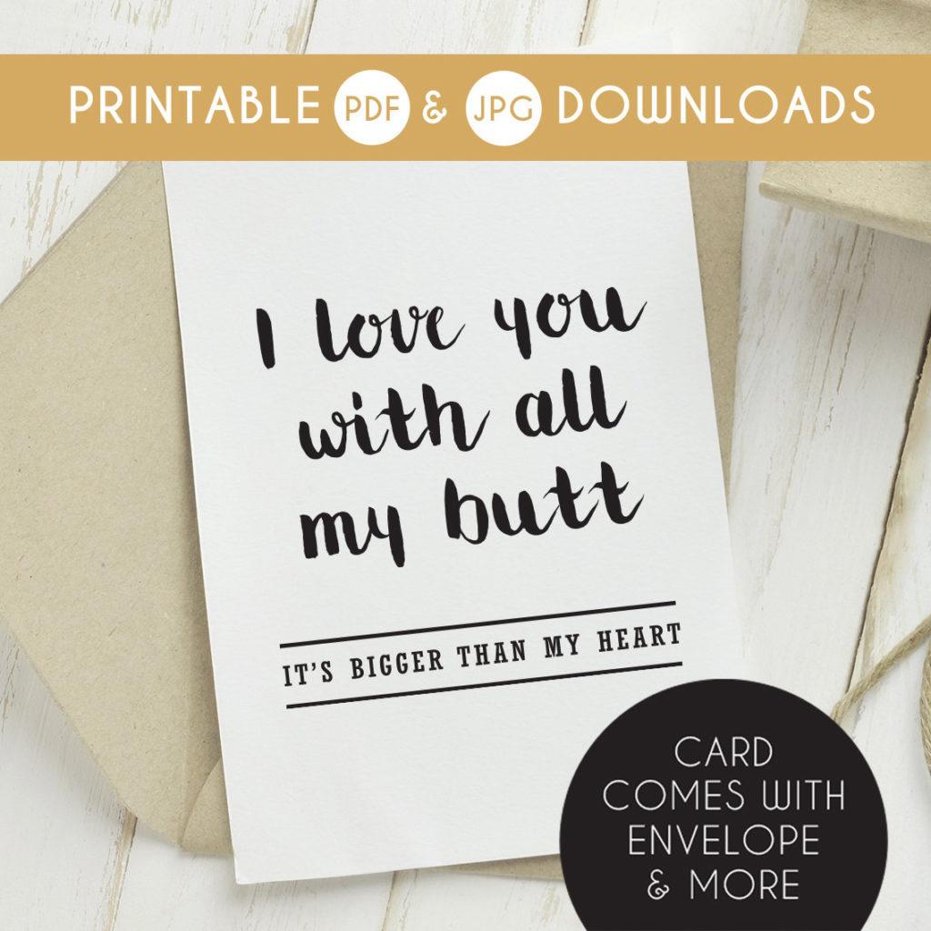Printable Funny Boyfriend Card Funny Boyfriend Birthday