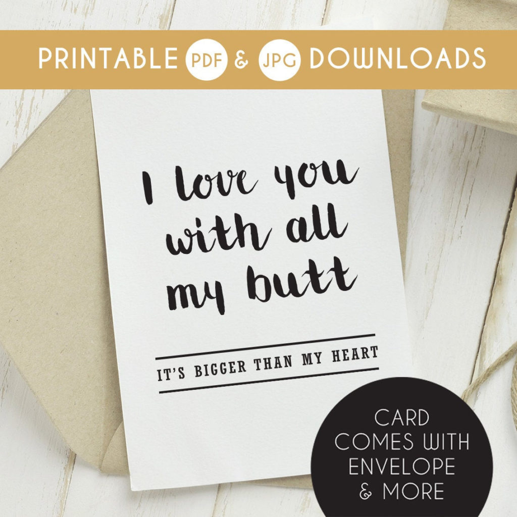 Printable Funny Boyfriend Card Funny Boyfriend Birthday Card