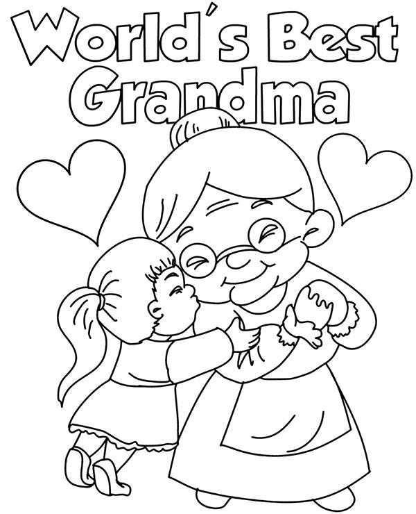 Printable Greetings Card For A Grandma s Day
