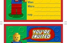 Printable Birthday Invitations Lego