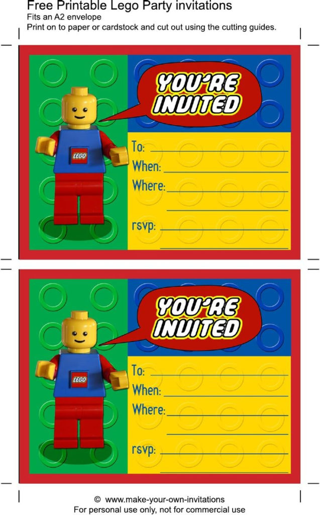 Printable Lego Birthday Invitations Scribd With Images