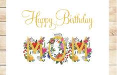 Happy Birthday Mom Card Printable
