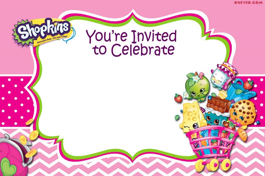 Printable Shopkins Birthday Card Printable Card Free