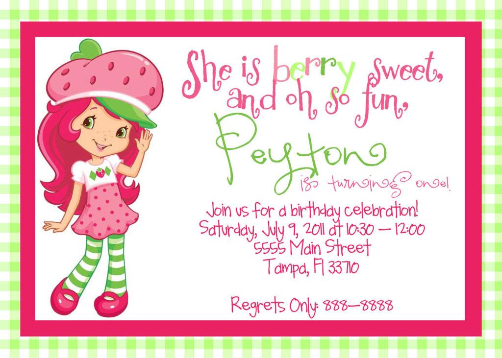 Printable Strawberry Shortcake Birthday By MagicbyMarcy On
