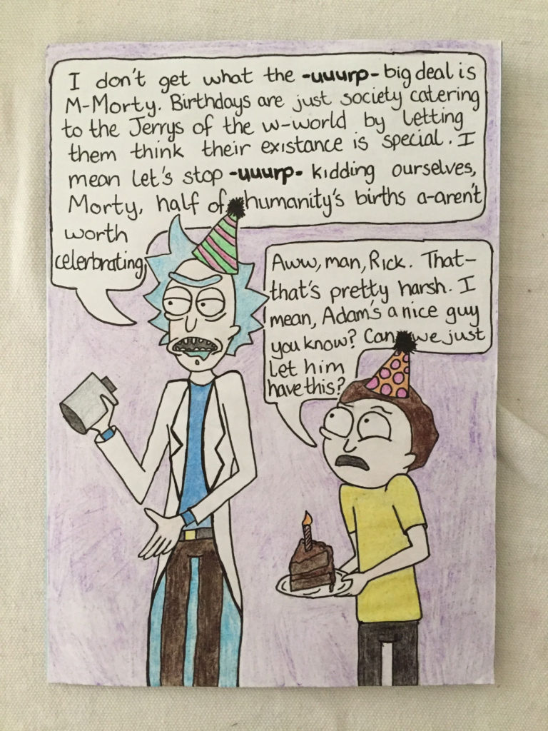 Rick And Morty Birthday Card Cool Birthday Cards