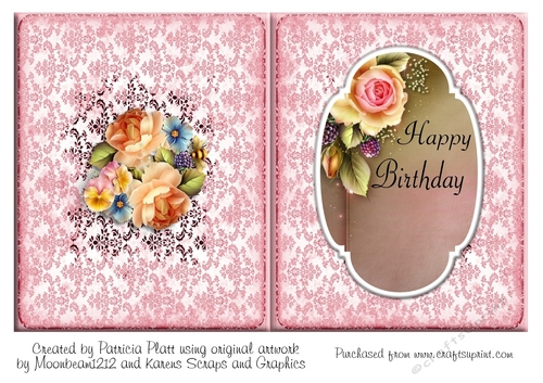 Rose Happy Birthday A5 Insert CUP719257 1416 Craftsuprint