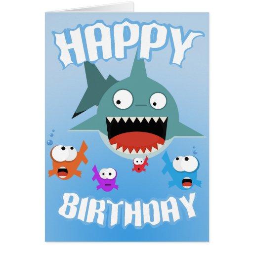 Shark Fun Birthday Card Zazzle