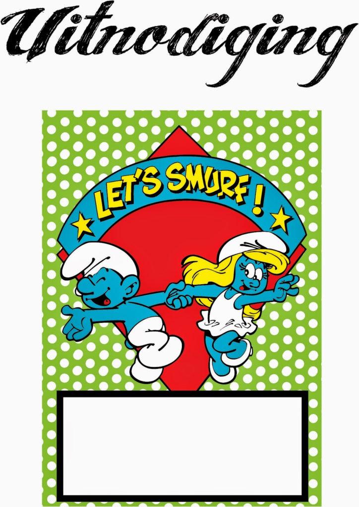 Smurfs Free Printable Mini Kit Oh My Fiesta In English