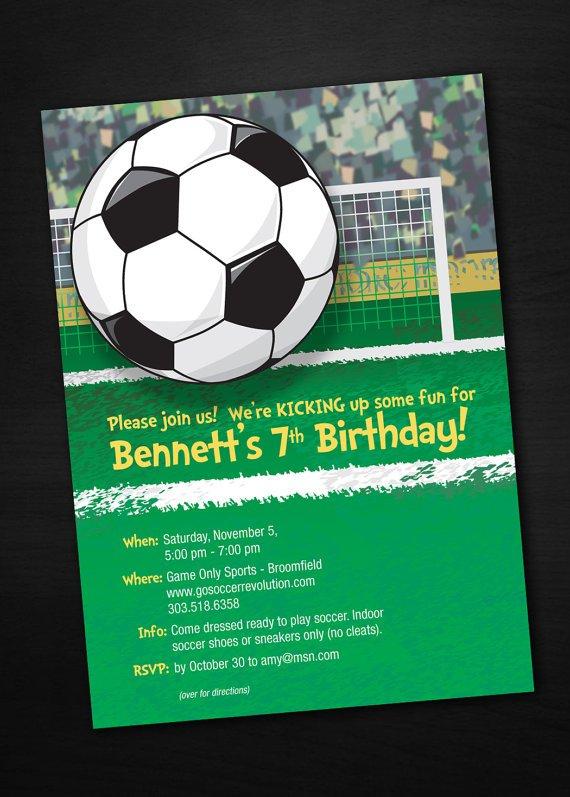 Soccer Birthday Cards To Print
